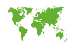 Vector wereldkaart Royalty-vrije Stock Foto