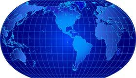 Vector wereldkaart Stock Foto's