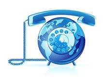 Vector wereldtelefoon Royalty-vrije Stock Afbeeldingen