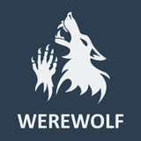 Vector werewolf stencil. Dark color Royalty Free Stock Images