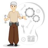Vector Werktuigkundige Stock Illustratie