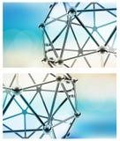 Vector Wetenschappelijk 3D Model van de Molecule Stock Foto
