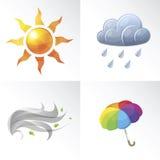 Vector Wetter-Symbole vektor abbildung