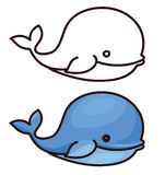 Vector  whale cartoon. Royalty Free Stock Photography