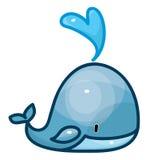 Vector whale cartoon. Royalty Free Stock Photos