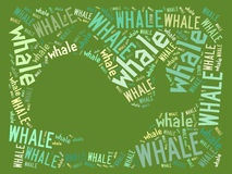 Vector whale on green saturated Stock Images