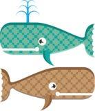 Vector whale textured Stock Photos