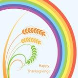 vector wheat ears and rainbow Stock Photography