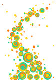 Vector wheel bubble background. Abstract circle design pattern in yellow and blue color Royalty Free Stock Photos