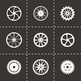 Vector wheel icon set Stock Images