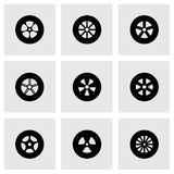 Vector wheel icon set Royalty Free Stock Image