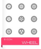 Vector wheel icon set Royalty Free Stock Photography