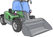 Vector wheel mini bulldozer Stock Photography