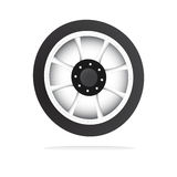 Vector wheel and rim Stock Image