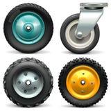 Vector Wheelbarrow Wheel. On white background stock illustration