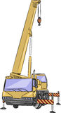 Vector wheeled crane. Royalty Free Stock Images