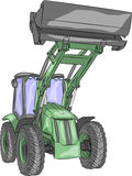 Vector wheeled tractor Stock Images