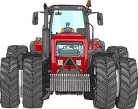 Vector wheeled tractor Royalty Free Stock Photo