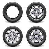Vector Wheels Royalty Free Stock Photo