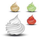 Vector whipped cream Royalty Free Stock Image