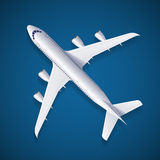 Vector White Airplane Royalty Free Stock Photography