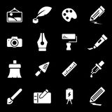 Vector white art icons set Royalty Free Stock Images