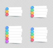 Vector White Banner Steps Infographic Sets 3, 4, 5 and 6 royalty free illustration