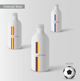 Vector white beer bottle Royalty Free Stock Images