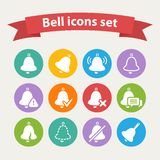 Vector white Bell icons set Stock Image