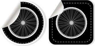 Vector white bike wheel sticker set Stock Images