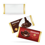 Vector White Blank Food Packaging For Biscuit, Wafer, Crackers, Sweets, Chocolate Bar, Candy Bar, Snacks . Chocolate bar Design Te Royalty Free Stock Photo