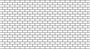 Vector white brick wall Royalty Free Stock Photo