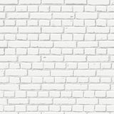 Vector white brick wall seamless texture. Abstract architecture and loft interior, background.  Stock Photography