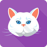 Vector white british Cat icon flat design Stock Photography