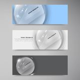 Vector white circle glass. Abstract background Stock Photography