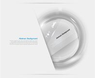 Vector white circle glass. Abstract background Royalty Free Stock Images