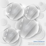 Vector white circle glass. Abstract background Royalty Free Stock Photos