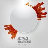 Vector white circle. Ray and explosion. This is file of EPS10 format Royalty Free Stock Image