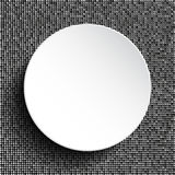 Vector white circle on silver sequins background . Royalty Free Stock Photo