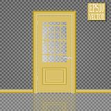 Vector White Closed Door with Frame  on Background. Eps10 Royalty Free Stock Images