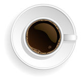 Vector white coffe cup. Royalty Free Stock Images