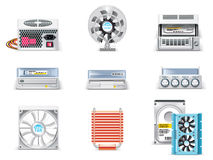 Vector White Computer Icon Set. Part 5 Royalty Free Stock Photos