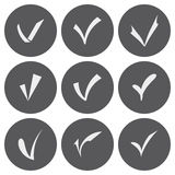 Vector white confirm icons set Royalty Free Stock Photo
