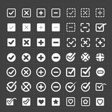 Vector white confirm icons set Royalty Free Stock Photography