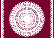Vector white doily. Stock Photography