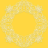 Vector white doodle pattern of spirals, swirls and Stock Image
