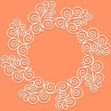 Vector white doodle pattern of spirals, swirls and Royalty Free Stock Photo