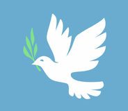 Vector white Dove Royalty Free Stock Photography
