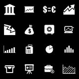 Vector white economic  icon set Stock Photo