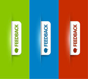 Vector white feedback Labels / Tags Royalty Free Stock Images